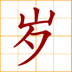 simplified Chinese symbol: a year of age