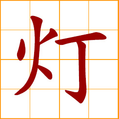 simplified Chinese symbol: lamp, light