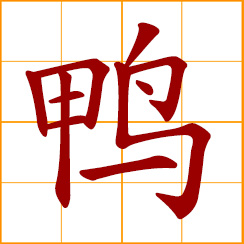 simplified Chinese symbol: duck, drake